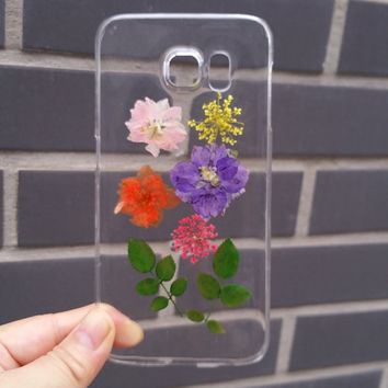 Pressed Flower Samsung Galaxy S6 Edge Case, Real Flower Samsung Galaxy S6 Case, Natural Flower Galaxy S5 Case Dried Flower S4 Case