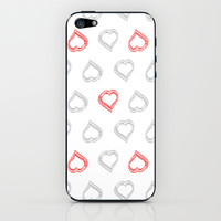 Hearts II iPhone & iPod Skin by RobozCapoz