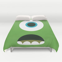 Mike Wazowski Duvet Cover by Adrian Mentus