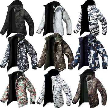 "Premium Clothes ""Southplay"" Winter Waterproof Ski Snowboard Army Camo Military Total Jackets"