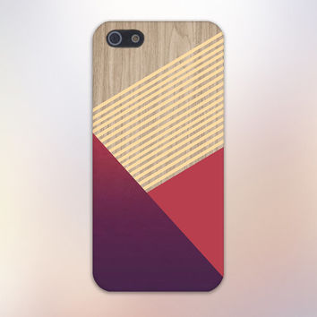 Maroon x Crimson Striped Wood Design Phone Case for iPhone 6 6 Plus iPhone 5 5s 5c iPhone 4 4s Samsung Galaxy s6 s5 s4 & s3 and Note 4 3 2