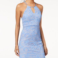 Sequin Hearts Juniors' Lace Racerback Dress - Juniors Extra 25% Off Summer Finds - Macy's