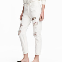 Boyfriend Low Ripped Jeans - from H&M