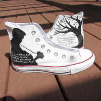 Custom Painted Johnny Cash Musician Shoes