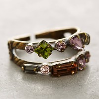 Doubled Crystal Cocktail Ring