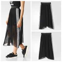 'Adidas' solid color Movement Leisure Perspective chiffon skirt