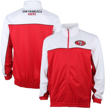 San Francisco 49ers Roll Out Full Zip Track Jacket - Scarlet