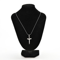 Necklace Jewelry Christ Cross Silver P Jesus Crucifix Sword Pendant Necklace S SM6