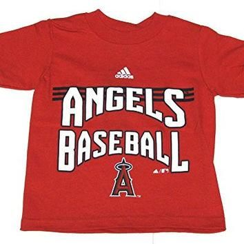 Adidas MLB Anaheim Angels Baseball Stripes Red T-shirt 2 Toddler