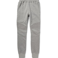 Balmain - Slim-Fit Loopback Cotton-Jersey Biker Sweatpants | MR PORTER