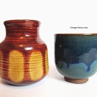 Vintage Handmade Pottery, Small Planter / Vase Lot