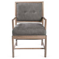 One Kings Lane - Beauty Through & Through - Tufted Back Dining Armchair