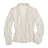Collection draped georgette top