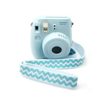 Fujifilm Camera Strap Fuji film Instax Mini Camera Pink Stripe Adjustable Length