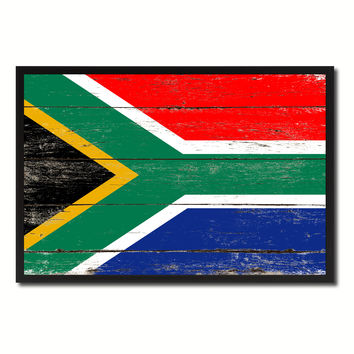 South Africa Country National Flag Vintage Canvas Print with Picture Frame Home Decor Wall Art Collection Gift Ideas
