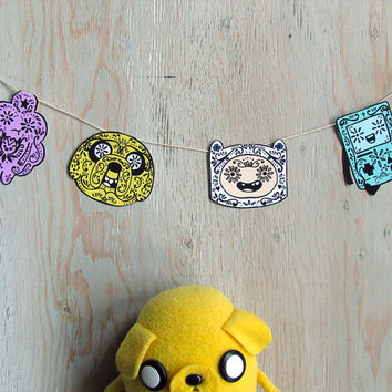 DIY Adventure Time Sugar Skull Garland
