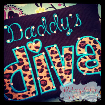 Daddy's Diva Embroidered Shirt