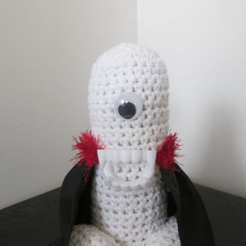 PENIS VAMPIRE PLUSH, adult novelty gift, x rated vampire, dracula doll, anthropomorphic, crochet penis, penis gag gift, scarey penis, mature