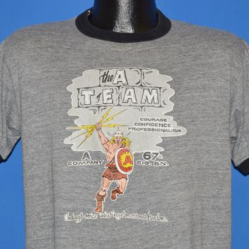 80s A Team Company 67th Signal Brigade Army t-shirt Large