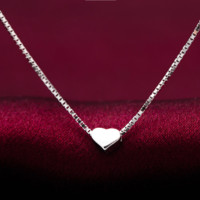 Simple and stylish tiny love 925 Sterling Silver Necklace, a perfect gift