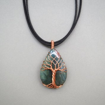 Bloodstone jewelry 1000 jewelry box tree of life necklace wire wrap pendant bloodstone mozeypictures Image collections