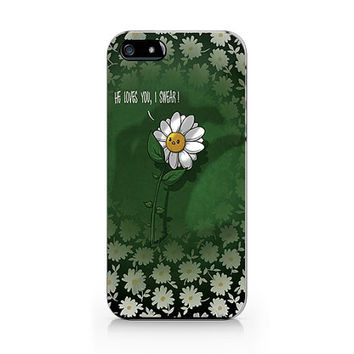 Daisy flower phone case, Floral pattern ,iPhone 5 5S case, iPhone 4 4S case, Free shipping M-559