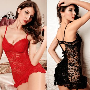 Elegant Badydoll Transparent Lingerie- 4 Colors