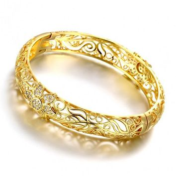 Z025-A Good Quality Nickle Free AntiallergicNew Fashion Jewelry 24K Gold Plated Bracelets