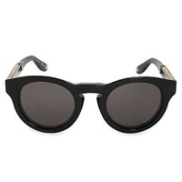 Givenchy GV 7007 807 NR Studed Black Plastic Round Sunglasses