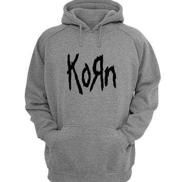 korn Hoodie Sweatshirt Sweater Shirt Gray for Unisex size with variant colour