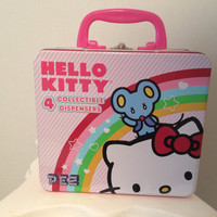 Hello Kitty San Rio Lunch Box Lunch Tin with Picture Window Side Pez Holder
