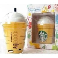 Yellow Green White Black Starbucks Cup iPhone Samsung Portable Charger External Battery Power Bank