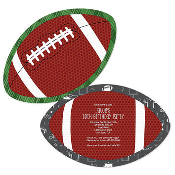 End Zone - Football - Personalized Birthday Party Invitations