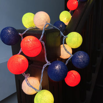 String Lights Cotton Ball to Decorate KIDS Rooms