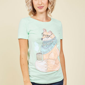 New Kid on the Fox T-Shirt | Mod Retro Vintage Sweaters | ModCloth.com