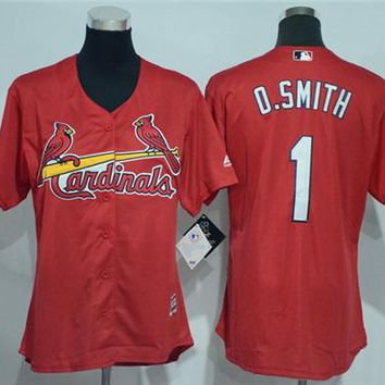 Women's St. Louis Cardinals #1 Ozzie Smith Majestic Cool Base Jersey