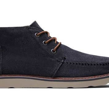 TOMS - Men's Chukka Black Washed Canvas Boots
