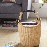Vintage Tan African Basket - Urban Outfitters