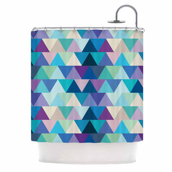 "Draper ""Crystal"" Purple Geometric Shower Curtain"