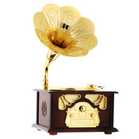 Phonograph Shaped Music Box (Brown)