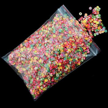 1000pcs/pack Nail Art 3D Fruit Fimo Slices Polymer Clay DIY Slice Decoration Nail Sticker Mixed Stype for Choice