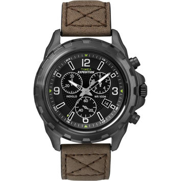 Timex Expedition Rugged Chronograph Watch - Brown-Black