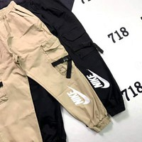 NIKE men and women pilot classic pocket flight staff pants casual beam pants F-XMCP-YC
