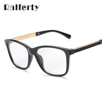 Ralferty Glasses Frames Woman Man Eyeglasses Frame for Myopia Vew Plica Eye Glasses Plain Mirror Glass Vintage Black Spectacles