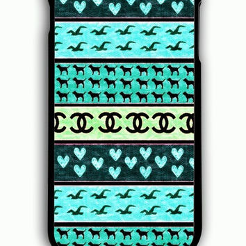 iPhone 6S Plus Case - Hard (PC) Cover with red hollister seagulls chanel sign hearts stripes Plastic Case Design