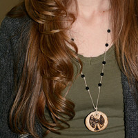 Tree of Celts wood pendant necklace