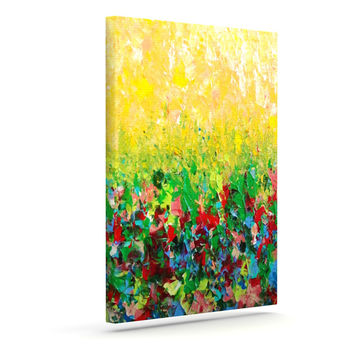 "Ebi Emporium ""My Paintings"" Yellow Multicolor Canvas Art"