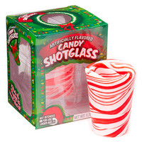 Peppermint Candy Shot Glasses: 12-Piece Display