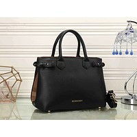 BURBERRY Women Shopping Bag Leather Satchel Crossbody Handbag Shoulder Bag