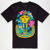 Neff King Tut Floral Mens T-Shirt Black  In Sizes